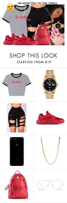 """""""I'M ADDICTED TO THE THRILL!!!"""" by princesspariss ❤ liked on Polyvore featuring Rolex, NIKE, ASOS, MCM and GlassesUSA"""