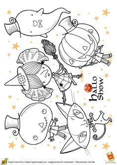 Coloriage pour enfants, image de l'halloween show