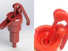 3ders.org - Canadian engineer 3D prints a functioning water pump that fits on large water containers | 3D Printer News & 3D Printing News