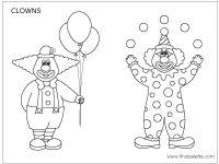 Clowns kleuren