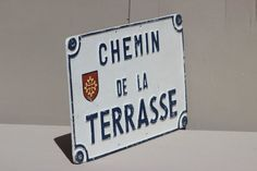 Vintage French Street Sign Chemin de la by LePasseRecompose