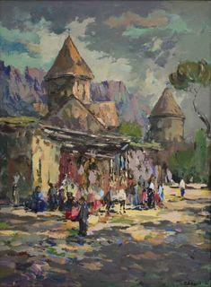 "Saatchi Art Artist Ara-Hrachya Hakobyan; Painting, ""Haghartsin Monastery (Armenian monastery of 13th century)"" #art"