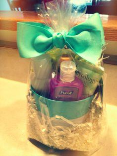 Thank you gift for a nurse, home spa gear :)