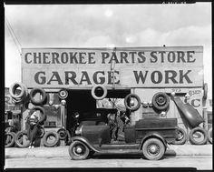 Photo of 1936 Auto Parts Cherokee Garage Work Shop Walker Evans