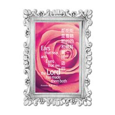 Words For Life - Ears that hear and Eyes that see, the Lord has made them both - Proverbs 20:12  Custom made Bible verse/Quotes picture frame is available from $4.9+Tax..  Langham Mall Unit 2333 & 2335 Level 2, 8339 Kennedy Road, Markham, Ontario, Canada  www.OneOfAKaIND.com