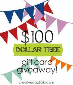Dollar Tree $100 Giveaway! Open until Jan 29, 2014 :)