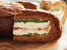 Turkey, Bacon, and Broccoli Rabe Shooter's-Style Sandwich | Serious Eats : Recipes