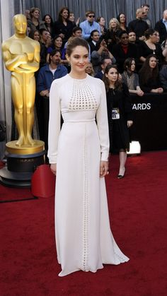 Shailene Woodley -- a little risky but she pulls it off.  Very stylish and understated sexy. Valentino 2012
