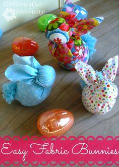 Fabric Bunnies Tutorial | Optimistic Mommy #simpleeastercrafts