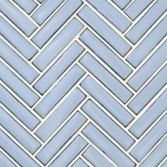 Beltile Glossy Medium Blue Mini Herringbone Glazed Porcelain Mosaic - x 2 - BelTile Tile and Stone including Hexagon Tile and Subway Tile Blue Penny Tile, Blue Tiles, Small American Kitchens, Beveled Subway Tile, Blue Backsplash, Kitchen Backsplash, Backsplash Ideas, Black Granite Countertops, Herringbone Backsplash