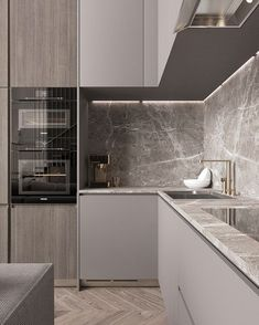 33 Trendy Kitchen Backsplash Modern Back Splashes Interior Design Luxury Kitchen Design, Kitchen Room Design, Kitchen Cabinet Design, Home Decor Kitchen, Interior Design Kitchen, New Kitchen, Kitchen Grey, Kitchen Ideas, Kitchen Colors