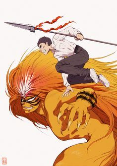 Pixiv Id Ushio to Tora, Aotsuki Ushio, Tora Manga Drawing, Manga Art, Manga Anime, Anime Art, I Love Anime, Anime Guys, Lovely Complex Anime, Ushio To Tora, One Punch Man Manga
