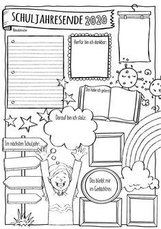 Back 2 School, End Of School Year, First Day Of School, German Language Learning, Teaching English, Kindergarten Portfolio, Sketch Notes, Teacher Binder, French Lessons