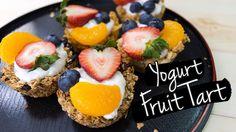 Yogurt Fruit Tart with 3 Different Crust Recipes   ทาร์ตผลไม้ โยเกิร์ต แ...
