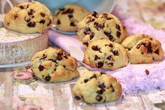 biscuits à la farine de pois chiches, miel et chocolat   http://www.epicetoutlacuisinededany.fr/