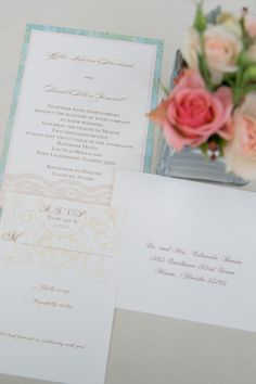 Wedding Invitation Suite by Fort Lauderdale Invitations - Visit our website for ordering information or search for us on Etsy @ Milgrim Designs! Fort Lauderdale * Hollywood * Miami * Palm Beaches * We Ship across the USA!