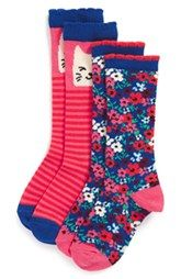 Tucker + Tate 'Kitty' Knee High Socks (2-Pack) (Toddler & Little Kid)