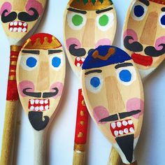 """Current """"upcycle"""" project for the blog is nearly finished! #christmascrafts #nutcrackers #recycling #woodenspoon #christmasdecor"""