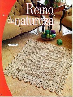 """Crochet Knitting Handicraft: MAT """"TULIP"""""""