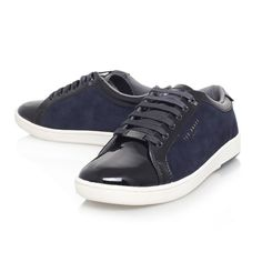 56aa6a3976a6d7 Ted Baker Men s Yocob Leather Sneaker. Low-Top Trainers Glossy Black ...