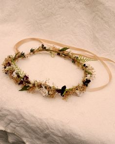 Woodland bridal Hair accessories dried flower crown by AmoreBride