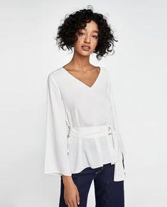 8c41c008e04 Image 2 of TOP WITH BELT AND BUCKLE from Zara Zara Women