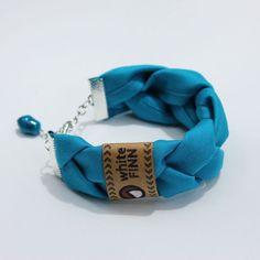 Braided Fabric Bracelets by WhiteFinn on Etsy