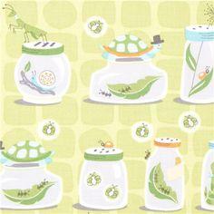 Michael Miller fabric bug jars by Patty Sloniger