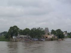 Kooduthurai - The Triveni Sangam in Erode is a confluence of 3 rivers, the Cauvery, Bhavani and Amudha. Of these three, the river Amudha is invisible and is said to flow underground and join the other two rivers from below. It is also called as Kooduthurai, where the famous Sangameswarar Temple is located.
