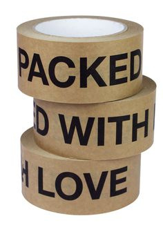 Packed with love packaging tape - perfect for sealing your parcel posts.  Extra little touches like these make a big impact on the recipient!  :)
