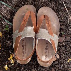 Sandale femei Haflinger piele si textil - Bio Lina Natur - HipHip.ro Women's Summer Fashion, Birkenstock, Organic Cotton, Slip On, Clothes For Women, Sandals, Womens Fashion, Shoes, Outerwear Women