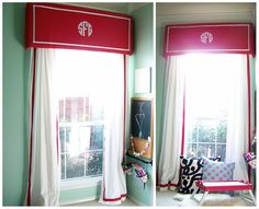 I love the attention this cornice draws to the window, and even I can manage something made from foamcore!