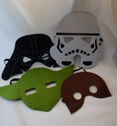 Star Wars Party Pack. Darth Vader, Storm Trooper, Yoda masks - Birthday party favors, costume, capes, costumes, dress up, cosplay.