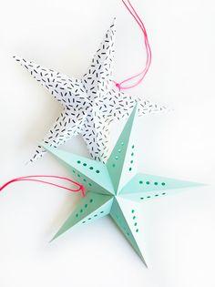 Simples et décoratives ces étoiles de papier sont à décliner de toutes les couleurs. Que cette journée vous soit douce et créative.