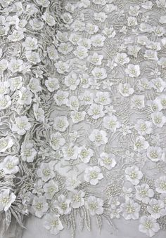 Bridal lace fabric by the yard,3D lace fabric,beaded lace fabric and 3D flower,guipure lace fabric,wedding dress lace fabric,embroidery lace by AnnabelleDIY on Etsy