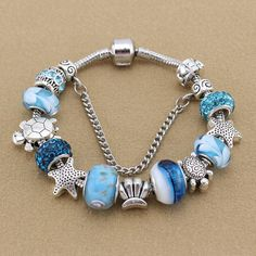 New Fashion DIY Charm Fit pandora Bracelets for Women 925 Silver Chain Beads Jewelry Allergy free Gfit Ankle Bracelets, Silver Bracelets, Jewelry Bracelets, Silver Ring, Charms For Bracelets, Silver Earrings, Wrap Bracelets, Stud Earrings, Pandora Bracelet Charms
