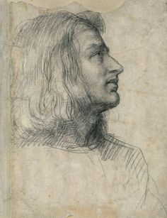 Andrea del Sarto (1486–1530), Head of Leonardo di Lorenzo Morelli, 1512. Black chalk, 12 3/8 x 9 5/8 in. (31.5 x 24.5 cm), Recto. Fondation Custodia, Collection Frits Lugt, Paris.