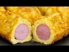 Hot dogy - klobásy v bramborovém těstě S Videos, Food Videos, Hot Dogs, New Recipes, Sausage, Picnic, Pork, Meat, Youtube