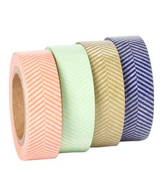 Look at this Herringbone Washi Tape - Set of Four on #zulily today!