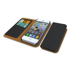 SF Planet | iLuv Diary Series Leather Case for Apple iPhone 5 (Black/Brown) - iPhone 5 - Apple - Cell Phones