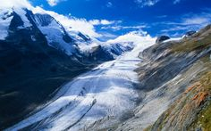 Download wallpapers Pasterze Glacier, Austrian Alps, 4k, mountains, glacier, Austria, Europe
