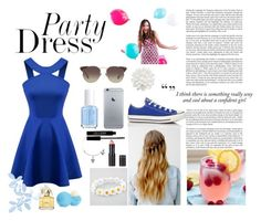 """""""Party dress"""" by laura14x ❤ liked on Polyvore featuring мода, BRIT*, Converse, Monki, Linda Farrow, Full Tilt, Essie, Alex and Ani, Lord & Berry и Eos"""