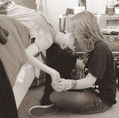 cute girl kiss