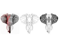 Geometric Elephant Tattoo