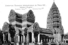 Le Temple d'Angkor-Vat. L'Exposition Coloniale Internationale de 1931 à Paris Angkor Vat, Angkor Temple, Colonial, France Eiffel Tower, World's Fair, Historical Sites, Taj Mahal, Temples, Deco