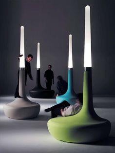 BANCO DE POLIETILENO COM LUZES INTEGRADAS BDLOVE LAMP COLEÇÃO BDLOVE BY BD BARCELONA DESIGN   DESIGN ROSS LOVEGROVE
