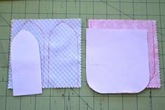 """So let's get started! For each treat bag you will need four 5"""" squares of fabric (cutting them into squares before hand will make them quicker to stitch up and reduce waste - I promise) and about 16"""" of 1/4 - 3/8""""ribbon. Download your bunny treat bag templates {here}."""