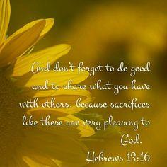 Hebrews 13 : 16