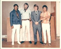 Mike Stone, James Coburn, Chuck Norris, and Bruce Lee