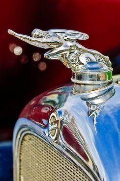 "Vintage Cars 1928 Studebaker ""Atalanta"" Hood Ornament by Jill Reger - Retro Cars, Vintage Cars, Antique Cars, Logo Autos, Car Bonnet, Car Hood Ornaments, Radiator Cap, Car Badges, Automotive Art"